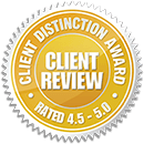 Client Distinction Awards Badge for Coye Law